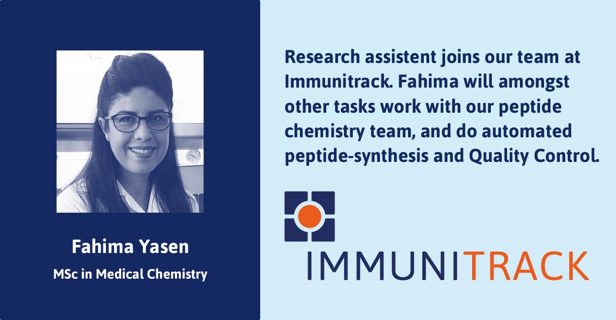 Fahima Yasen joins Immunitrack