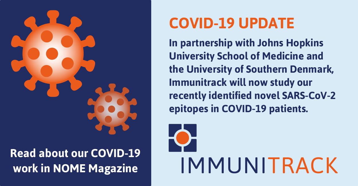 Covid-19 Update Immunitrack expands SARS-CoV-2 Vaccine Efforts