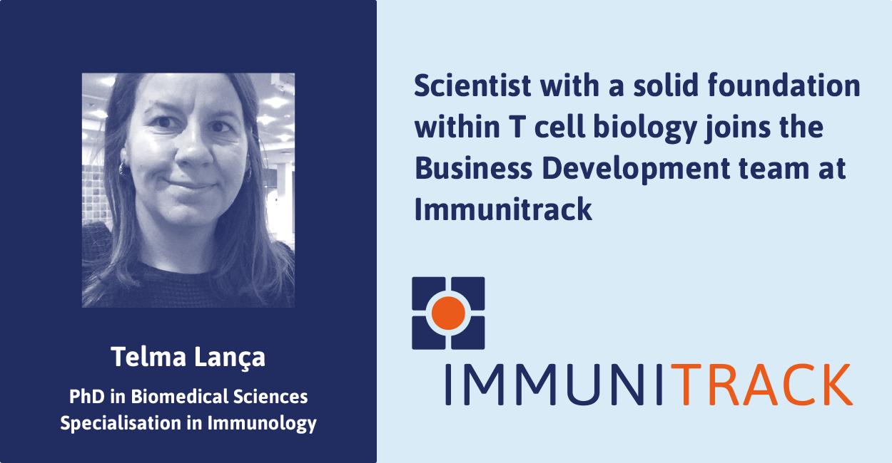Telma Lanca joins Immunitrack's Business Development Team