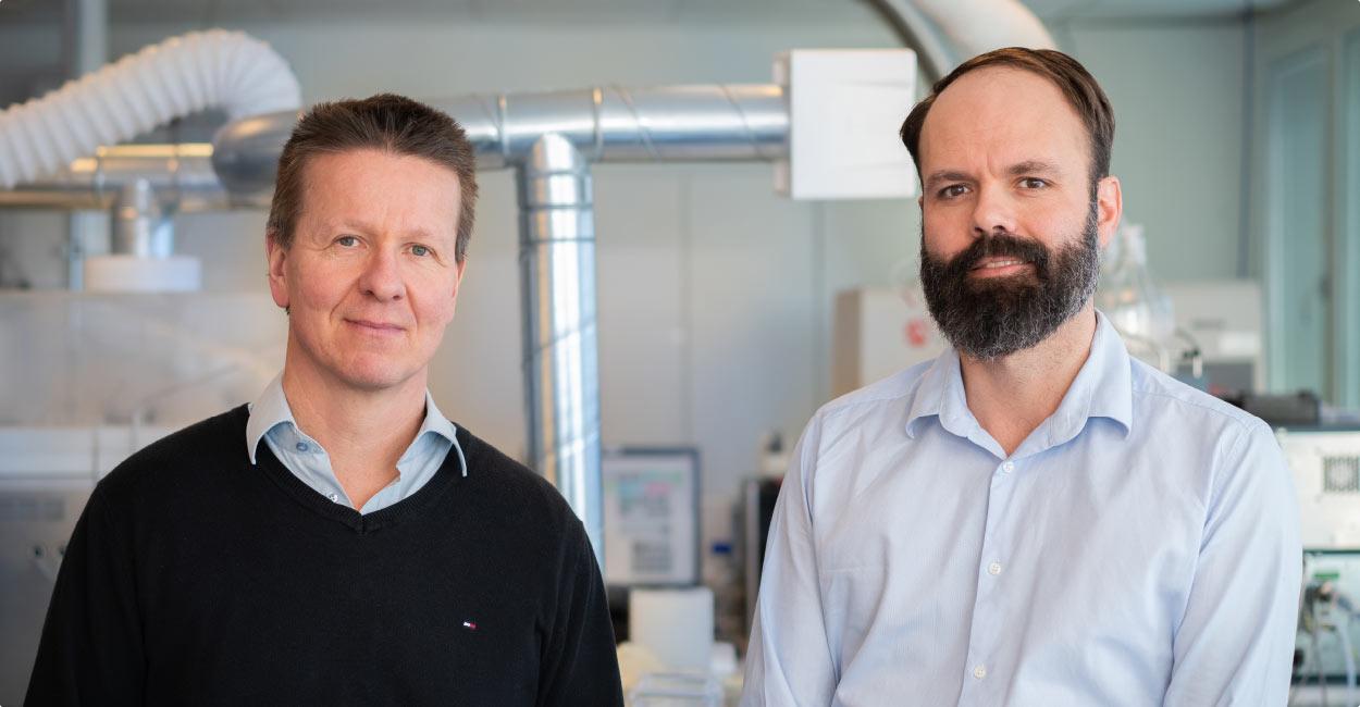 Immunitrack CSO Sune Justesen and CEO Stephan Thorgrimsen