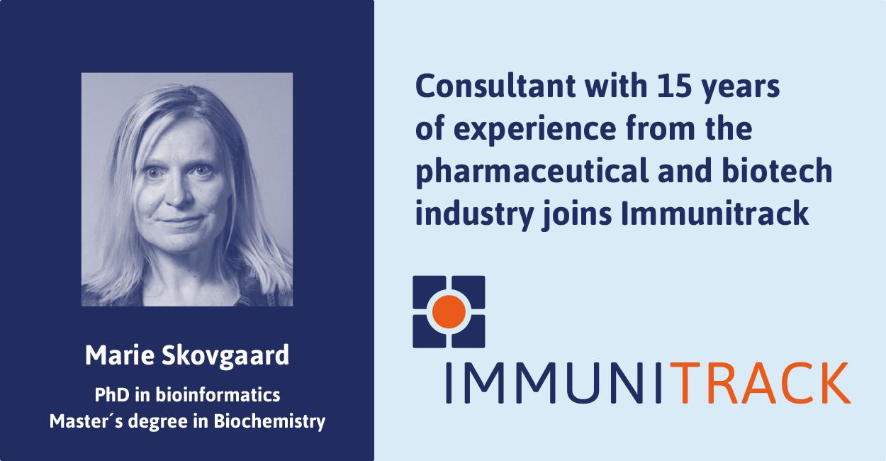 Marie Skovgaard, new member of Immunitrack business development team